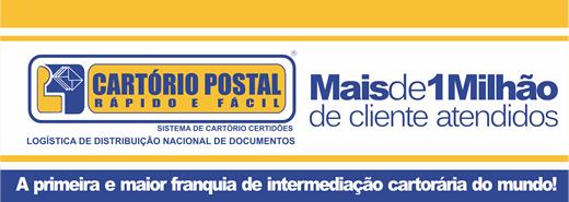 cartorio postal mais de 1 milhao de clientes atendidos