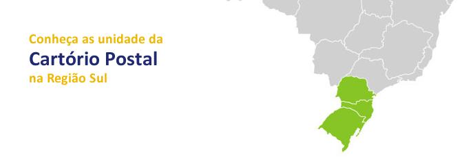 conheca as unidades da cartorio postal na região sul
