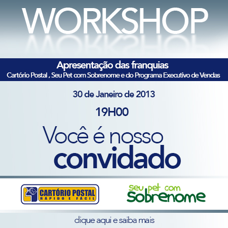 workshop cart�rio postal